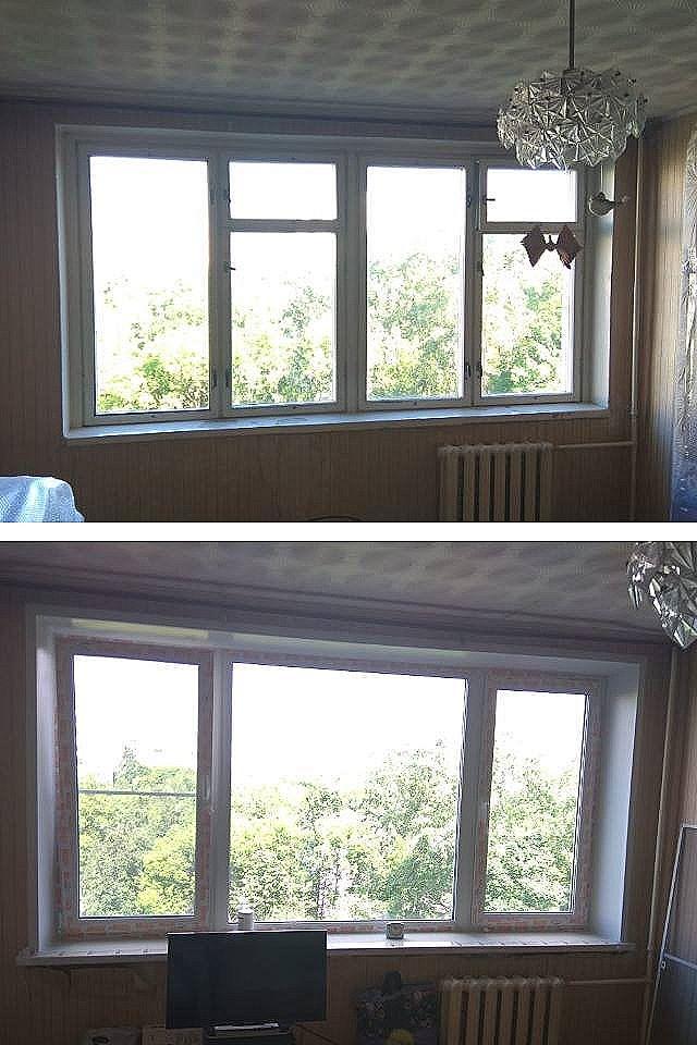 Замена старых деревянных окон на пластиковые стеклопакетыв